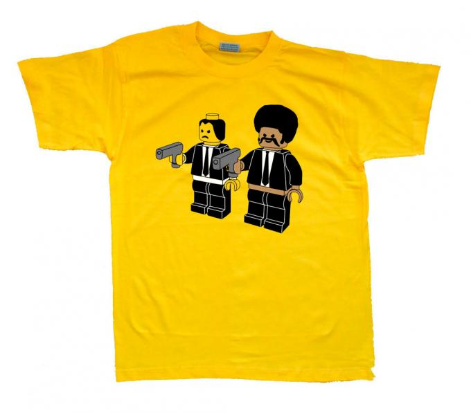 Camiseta Pulp Fiction Lego. Jules y Vincent