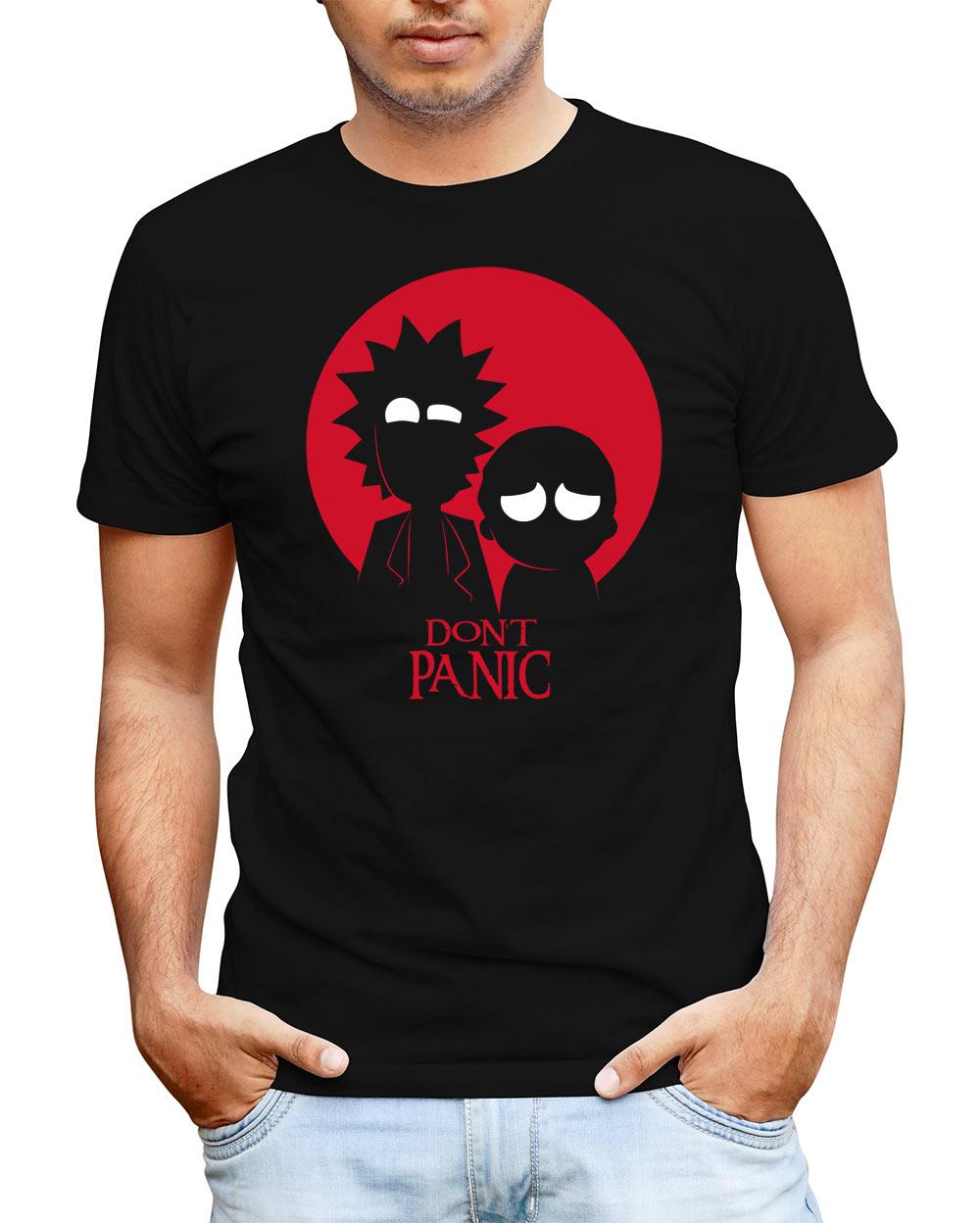 Camiseta Rick y Morty Don't Panic