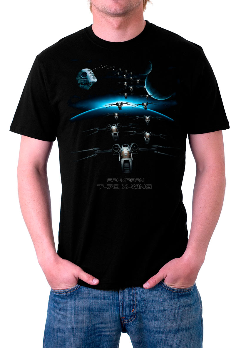 Camiseta Rogue One: A Star Wars Story. Squadron T-70 X-Wing