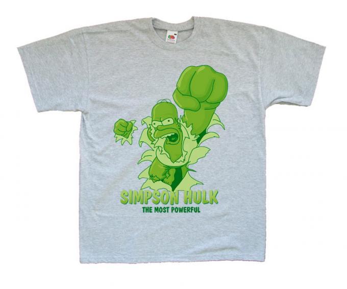 Camiseta Simpson Hulk. Los Simpson