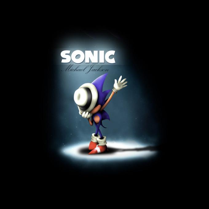 Camiseta Sonic the Hedgehog. Sonic como Michael Jackson