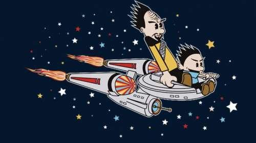 Camiseta Star Trek. Cómic