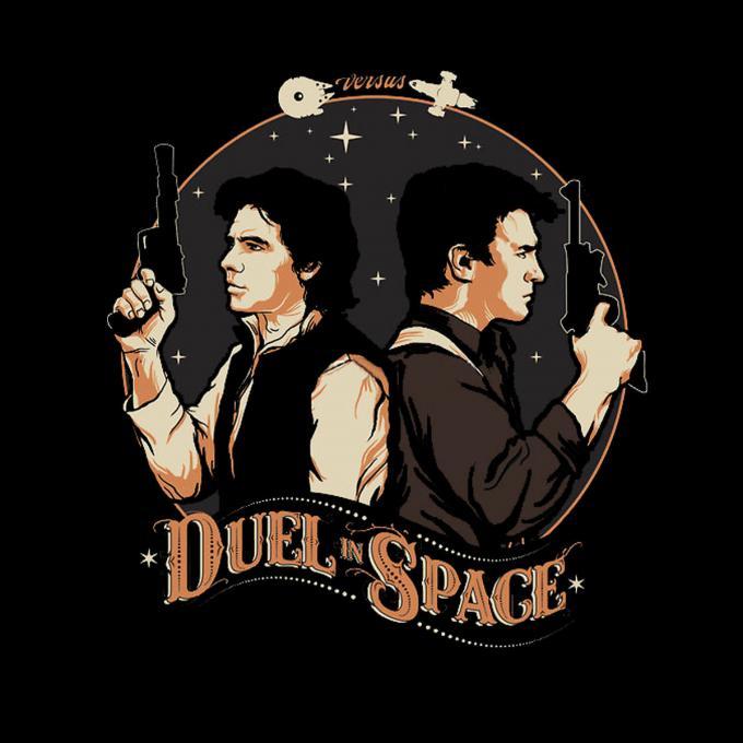 Camiseta Star Wars vs Serenity. Duelo en el espacio