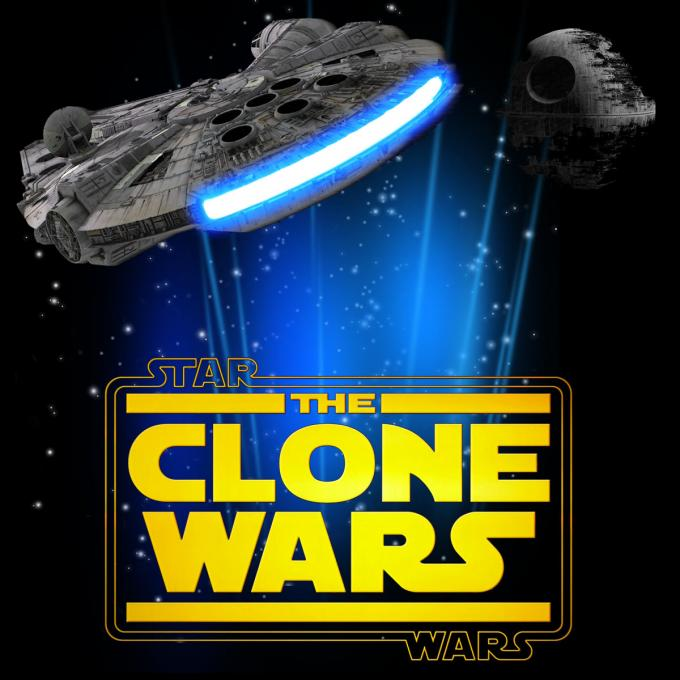 Camiseta Star Wars. Clone Wars Halcón Milenario