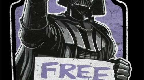 Camiseta Star Wars. Darth Vader Free Throat Hugs