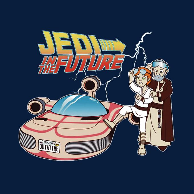 Camiseta Star Wars. Jedi Regreso al Futuro