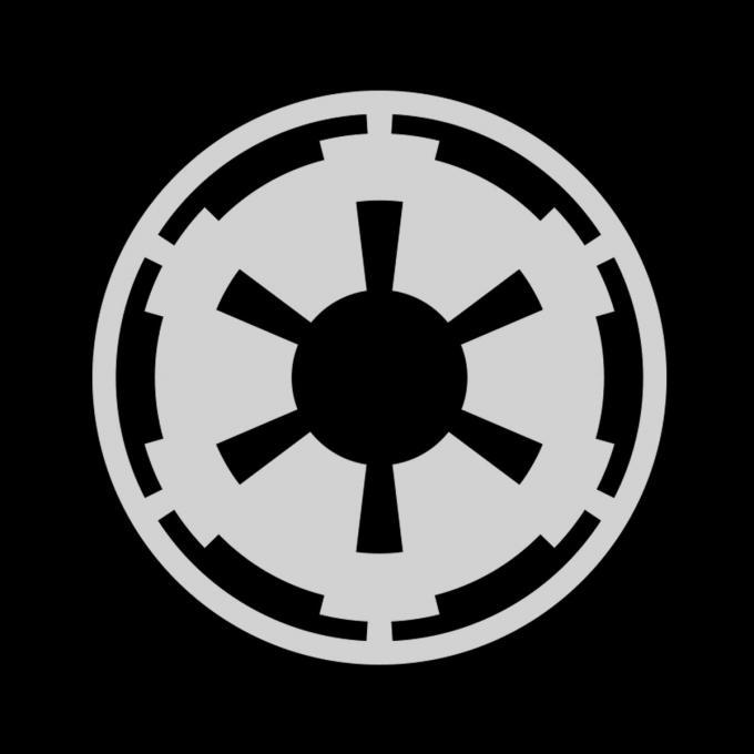 Camiseta Star Wars. Logo Imperio Galáctico