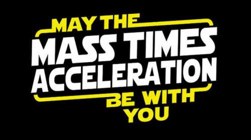 Camiseta Star Wars. Mass Times Acceleration
