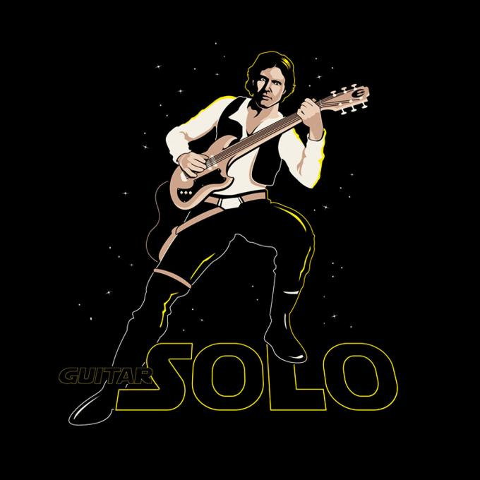 Camiseta Star Wars. Solo...de guitarra