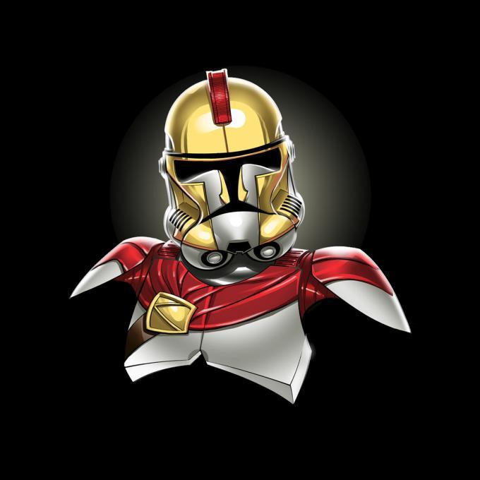 Camiseta Star Wars. Stormtrooper como Leónidas