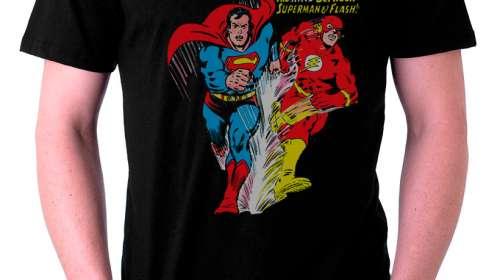 Camiseta Superman vs. The Flash. ¿Quién es más rápido?