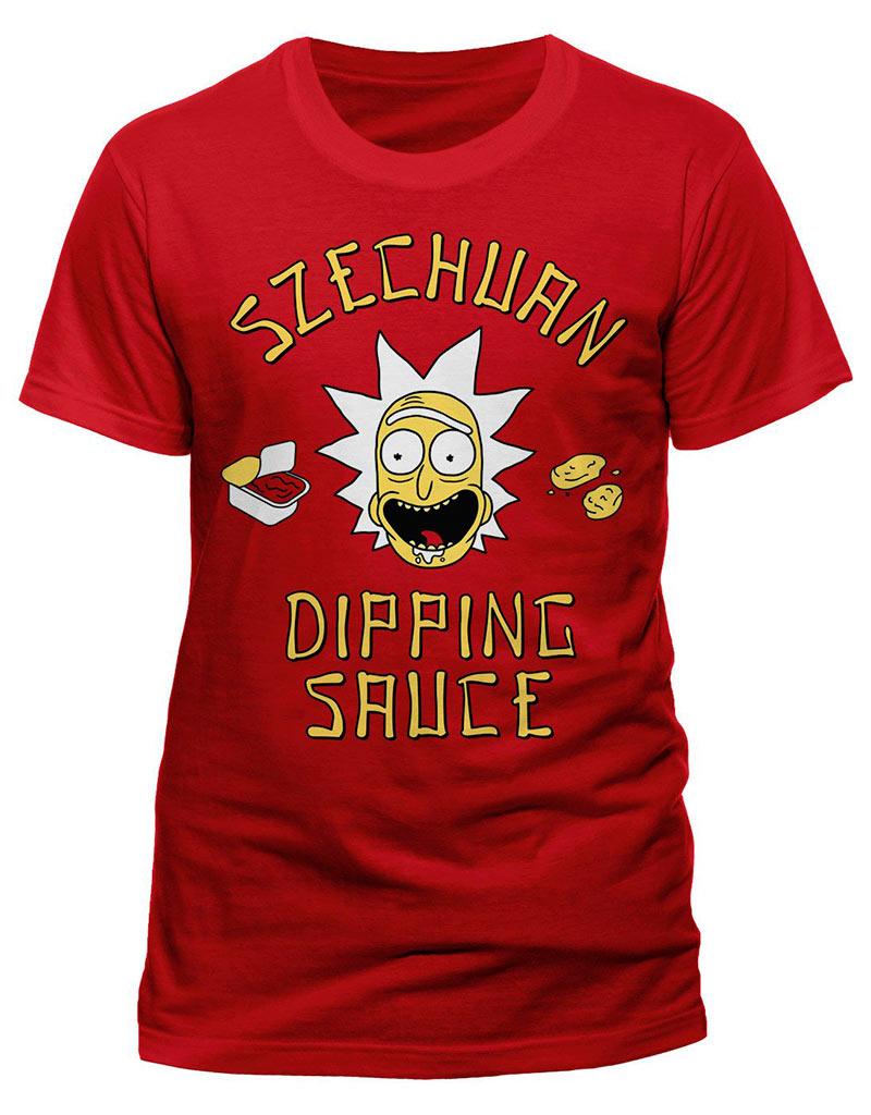 Camiseta Szechuan Dipping Sauce. Rick y Morty