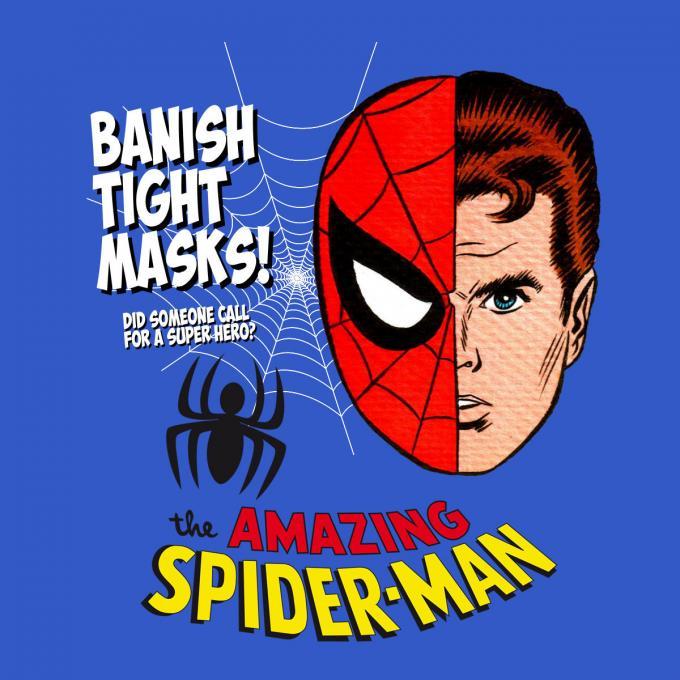 Camiseta The Amazing Spiderman Cómic. Máscara