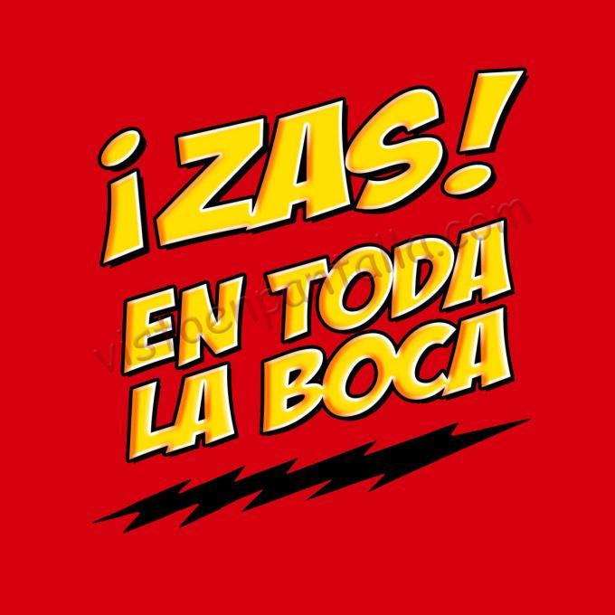 Camiseta The Big Bang Theory. ¡Zas! en toda la boca