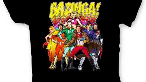 Camiseta The Big Bang Theory. Cómic Portada