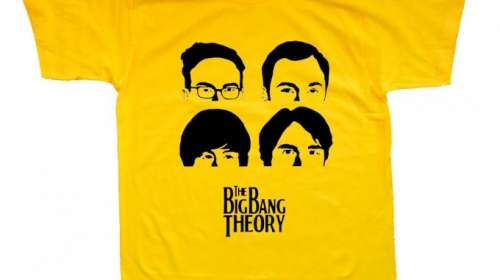 Camiseta The Big Bang Theory. Personajes