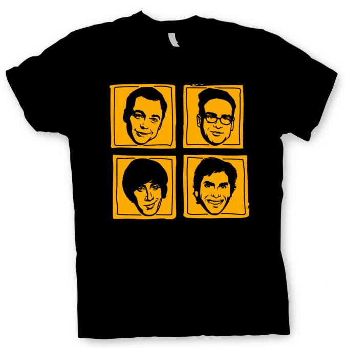 Camiseta The Big Bang Theory. Personajes