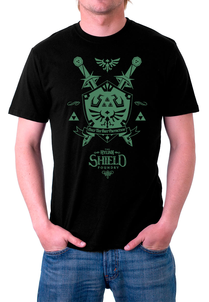Camiseta The Legend of Zelda. The Hylian Shield Foundry