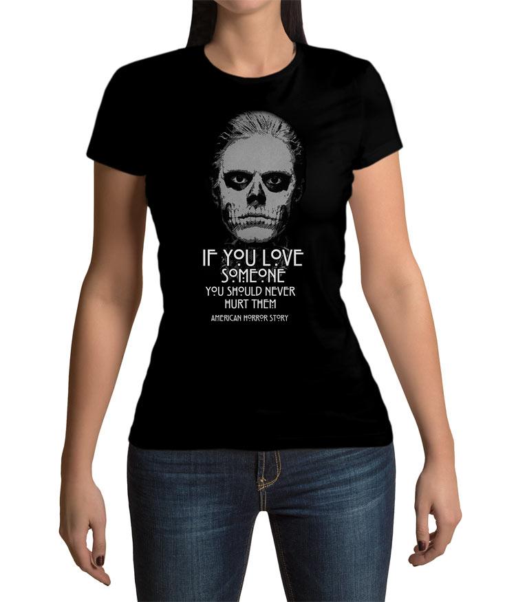 Camiseta Chica American Horror Tate Langdon Frase Por 1985