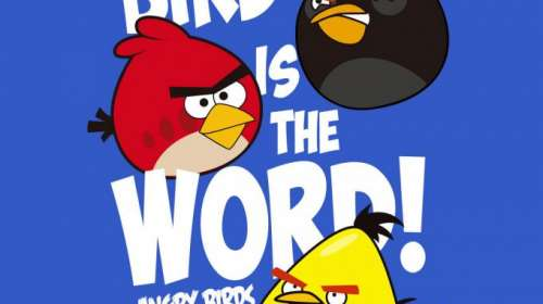 Camiseta chica Angry Birds. Bird is the Word