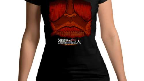 Camiseta chica Attack on Titan Colossal face