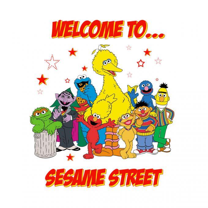 Camiseta chica Barrio Sésamo. Welcome Sesame Street
