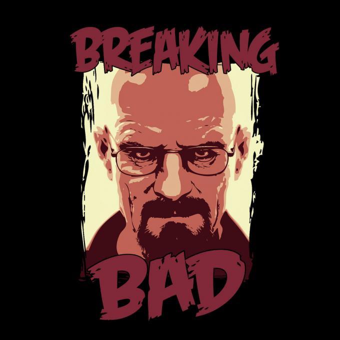 Camiseta chica Breaking Bad. Heisenberg dibujo
