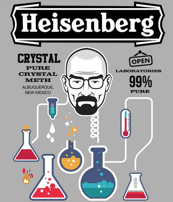 Camiseta chica Breaking Bad. Probetas