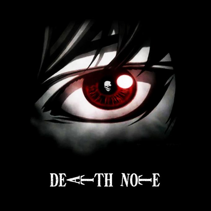 Camiseta chica Death Note. Ojo