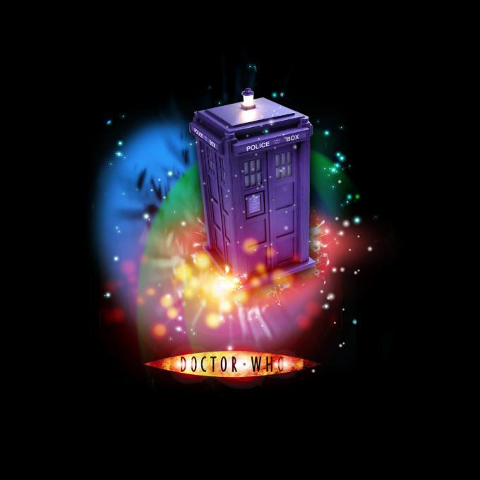 Camiseta chica Doctor Who. Tardis tipo 40