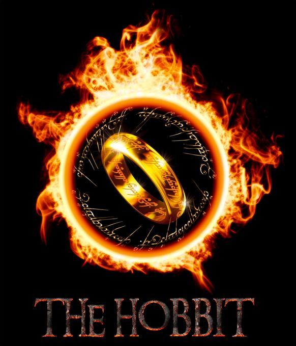 Camiseta chica El Hobbit. Anillo de fuego