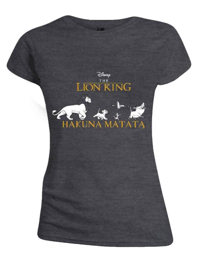 Camiseta chica Hakuna Matata. El rey león