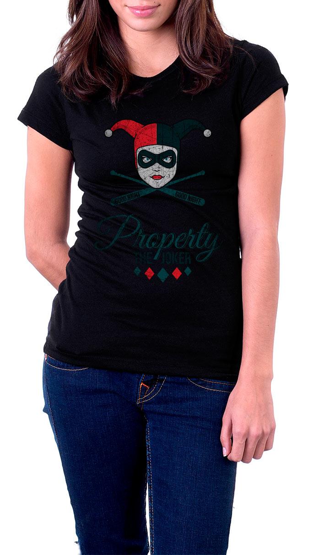 Camiseta chica Harley Quinn Property The Joker. Escuadrón Suicida