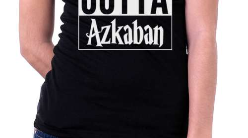 Camiseta chica Harry Potter Straight Outta Azkaban