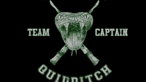 Camiseta chica Harry Potter. Slytherin Quidditch