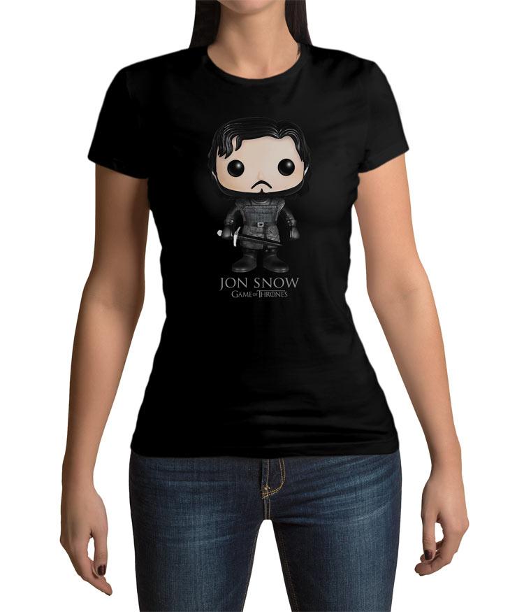 Camiseta chica Jon Nieve Cartoon. Juego de Tronos. Modelo 2