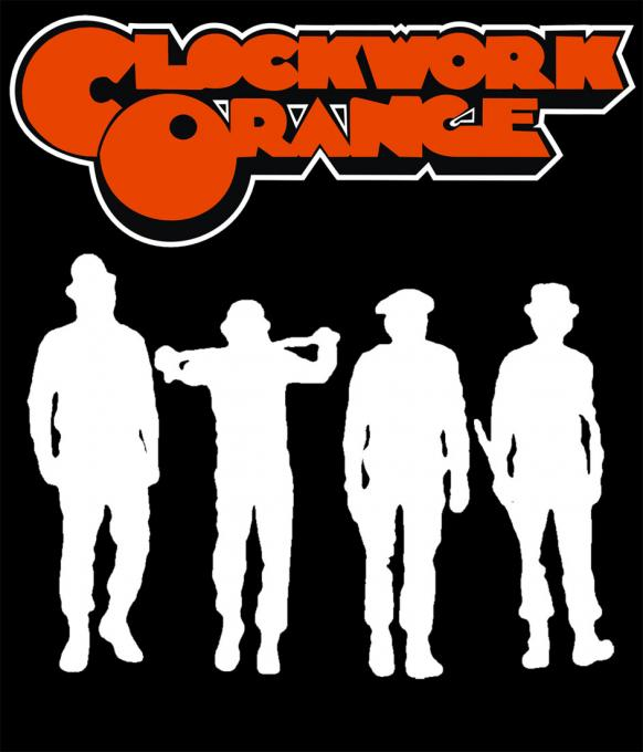 Camiseta chica La Naranja Mecánica. Personajes