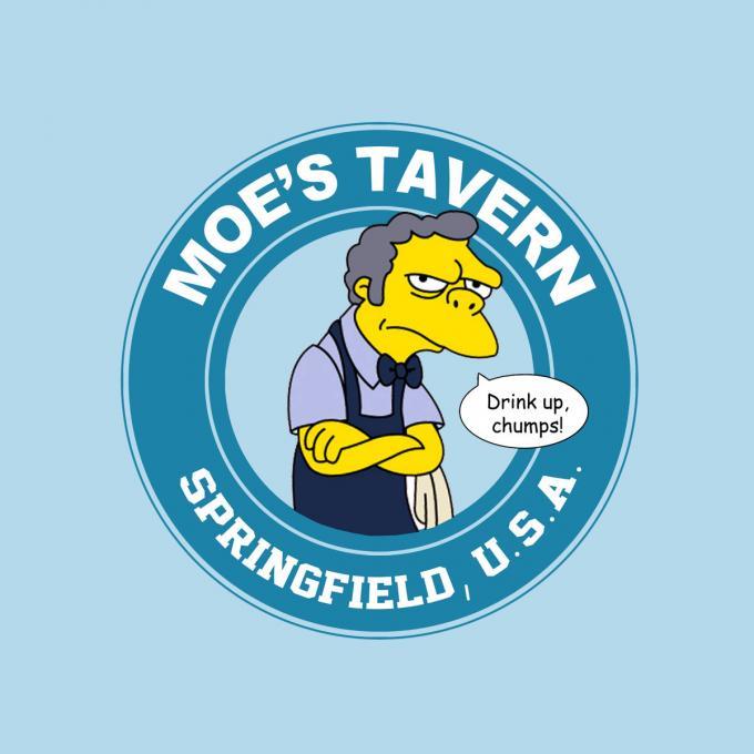 Camiseta chica Los Simpson. Moe's Tavern