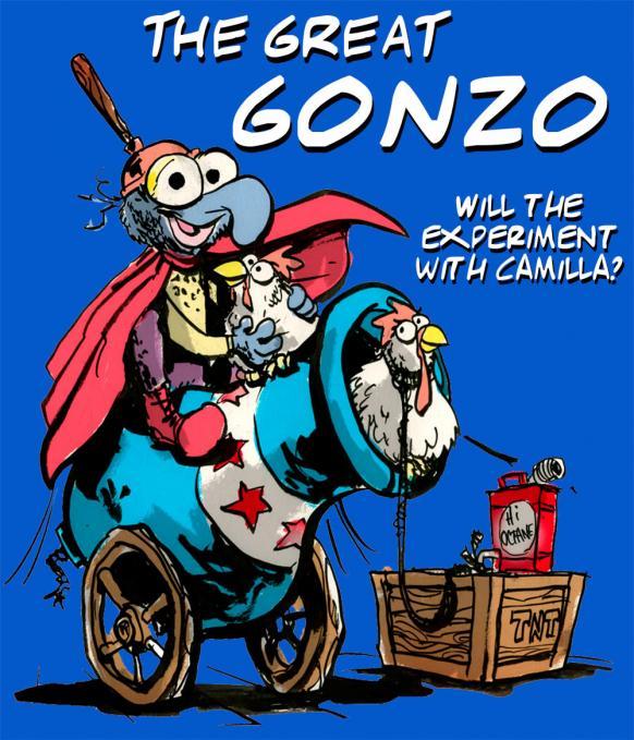 Camiseta chica Los Teleñecos Gonzo y Camila