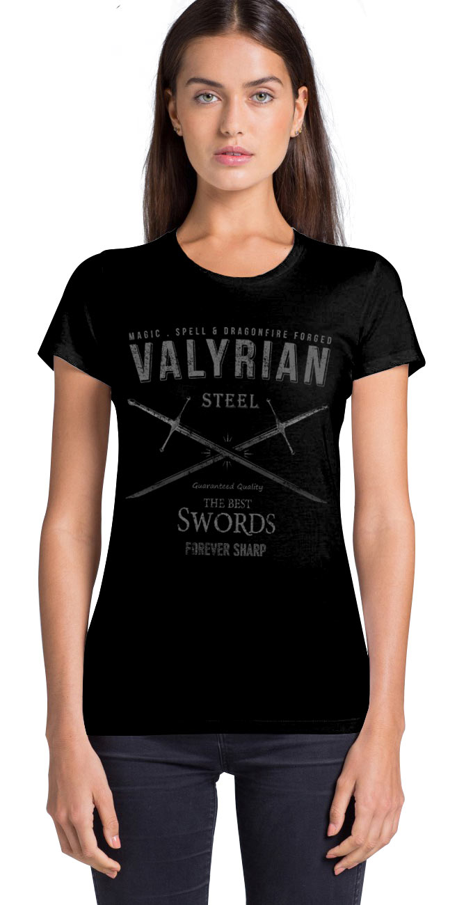 Camiseta chica Magic Valyrian Sword. Juego de Tronos