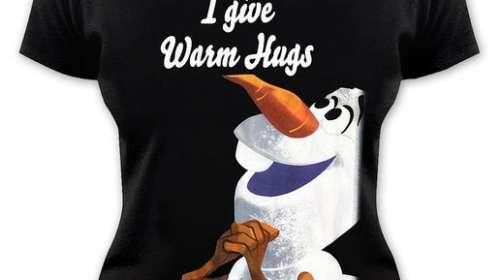 Camiseta chica Olaf. Frozen: El Reino del Hielo
