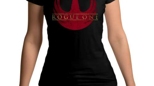 Camiseta chica Rogue One: A Star Wars Story logo. Modelo 2