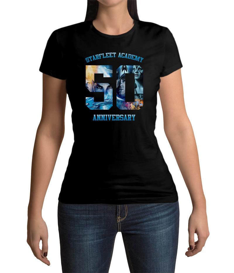 Camiseta chica Star Trek 50 Anniversary Starfleet Academy