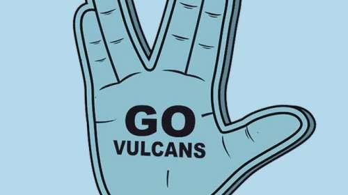 Camiseta chica Star Trek. Saludo Vulcano