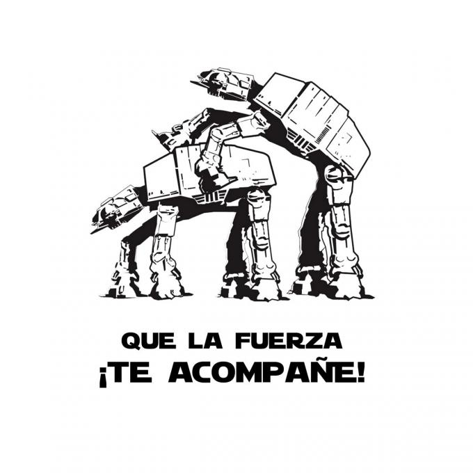Camiseta chica Star Wars. AT-AT