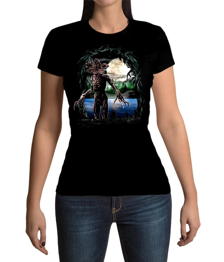 Camiseta chica Stranger Things lago