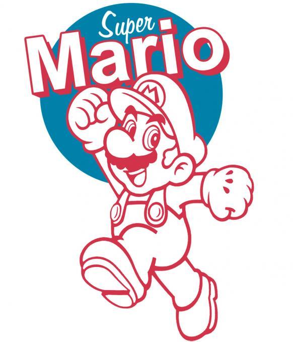 Camiseta chica Super Mario Bros. Corriendo