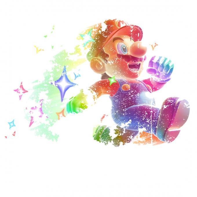 Camiseta chica Super Mario Bros. Estrellas
