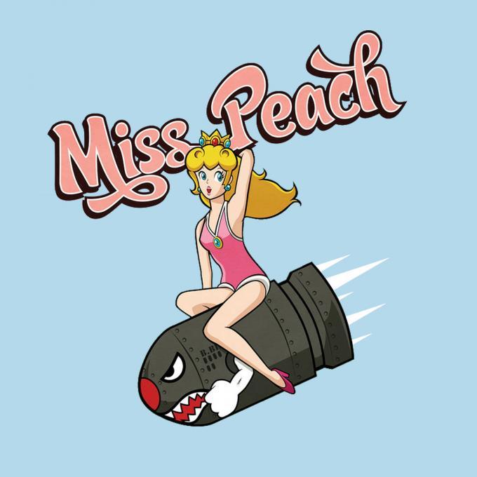 Camiseta chica Super Mario Bros. Miss Peach