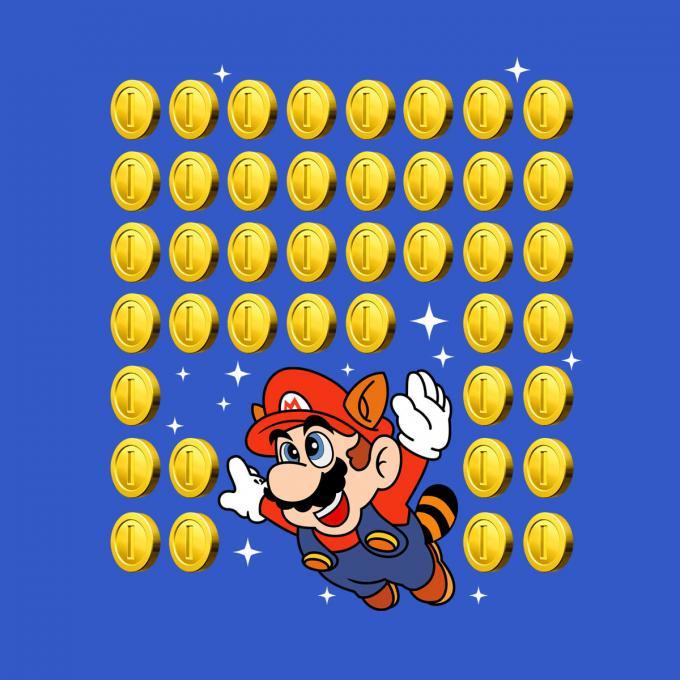Camiseta chica Super Mario Bros. Monedas